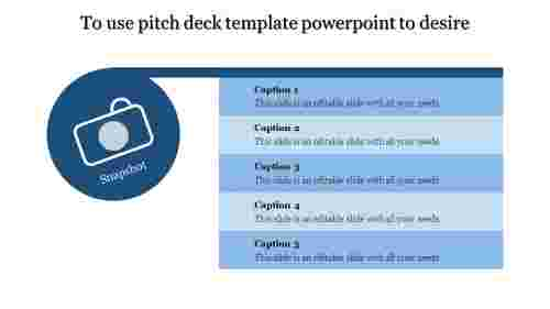 A five noded pitch deck template powerpoint
