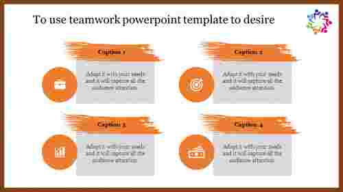 Teamwork powerpoint template - Mixed Shape