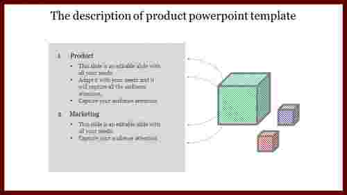 A two noded product powerpoint template-