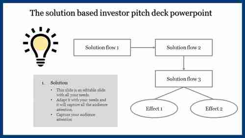 A three noded investor pitch deck powerpoint