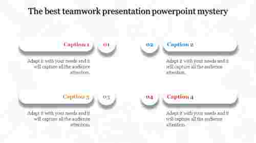 Teamwork presentation powerpoint - Four Steps
