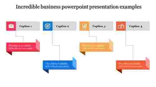 Four step business PowerPoint presentation
