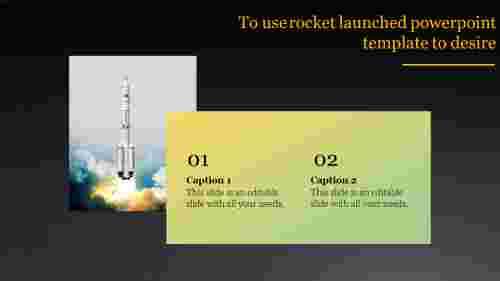 A two noded rocket launched powerpoint template