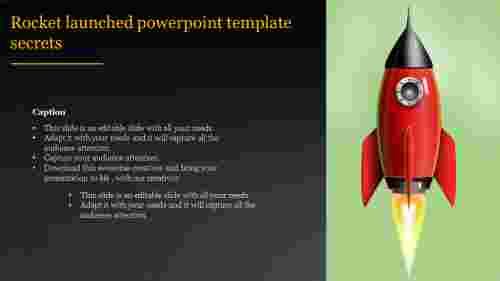 A one noded rocket launched powerpoint template