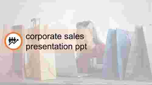 corporate sales presentation PPT title slide