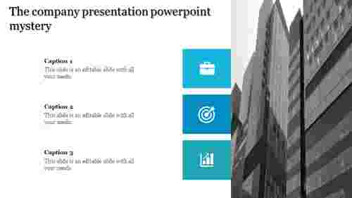 A three noded company presentation powerpoint