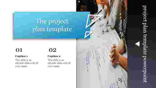 A two noded project plan template powerpoint