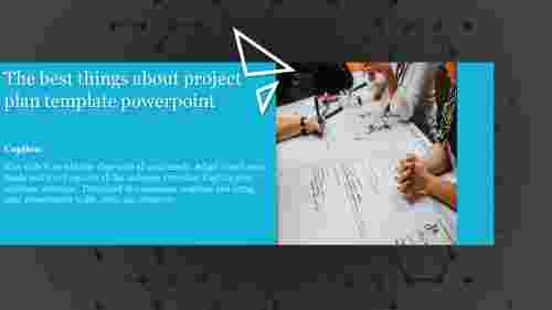 A one noded project plan template powerpoint