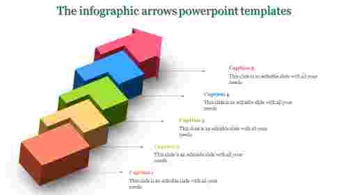 arrows powerpoint templates-The infographic arrows powerpoint templates-Multicolor