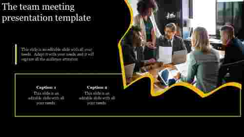 Team meeting presentation template