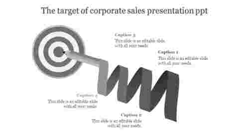 corporate sales presentation ppt-The target of corporate sales presentation ppt-Gray