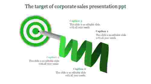 corporate sales presentation ppt-The target of corporate sales presentation ppt-Green