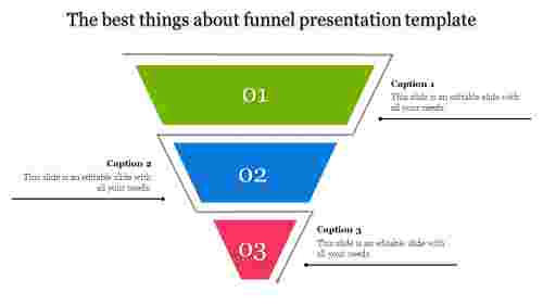 Zigzag funnel presentation template for business plan