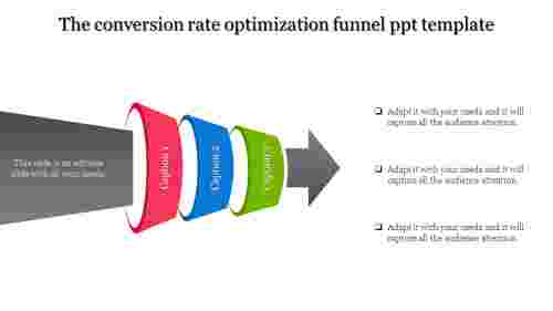 Funnel powerpoint template - 3D model
