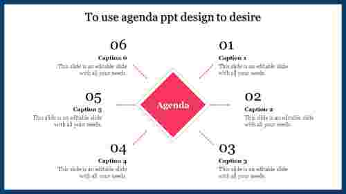 A six noded agenda PPT design