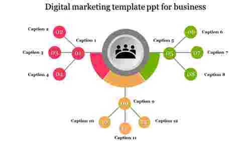 Digital Marketing Template PPT Network Model