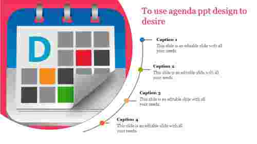 Agenda PPT design calendar model