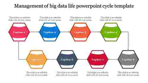 A eight noded powerpoint cycle template