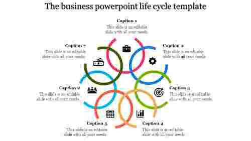 A six noded powerpoint life cycle template