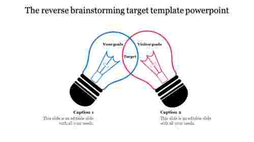 A two noded target template powerpoint