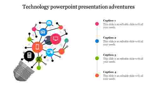 A four noded technology powerpoint presentation