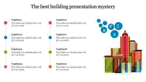 A nine noded building presentation