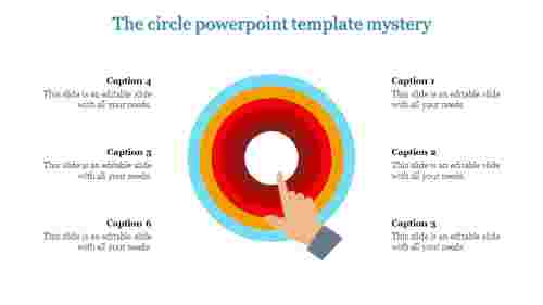 A six noded circle powerpoint template