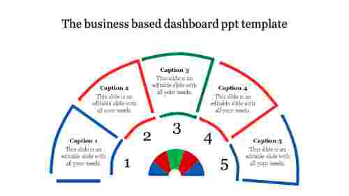 A five noded dashboard PPT template