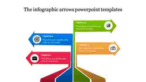 Pole model arrows powerpoint templates