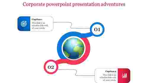 A two noded corporate powerpoint presentation