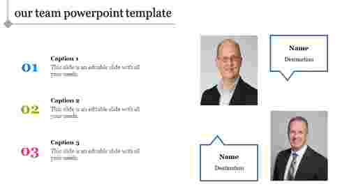 Verticle Our team powerpoint template