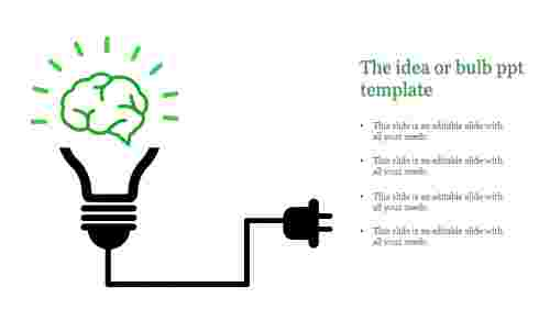 A one noded bulb PPT template