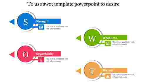 key shaped SWOT template powerpoint