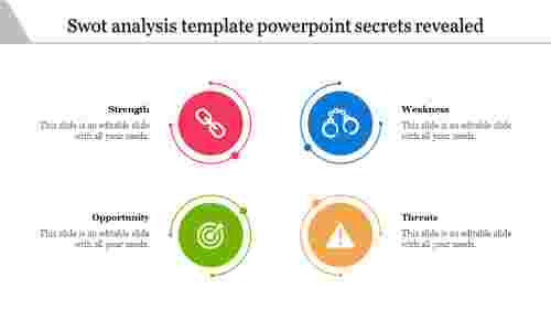 Swot Analysis Template Powerpoint Summery Elements