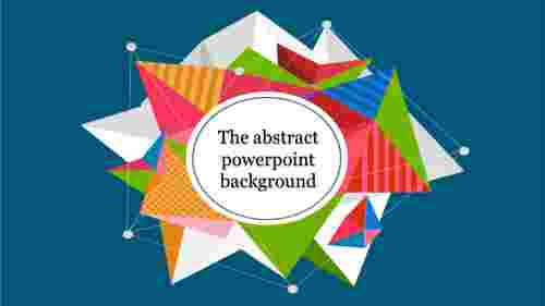 Abstract PowerPoint with blue background