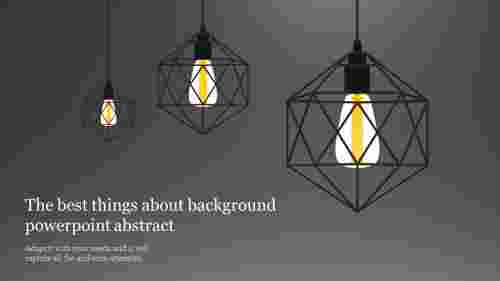 light bulb background powerpoint abstract