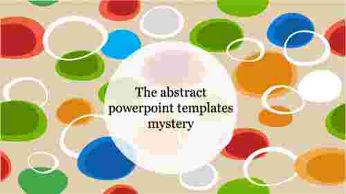 the cool shapes abstract powerpoint template