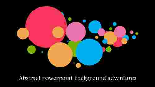 circle model abstract powerpoint background