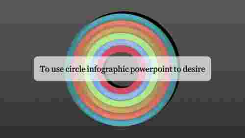 A one noded circle infographic powerpoint