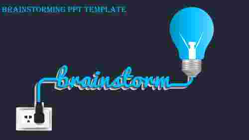 brainstorming ppt template-brainstorming ppt template-Blue