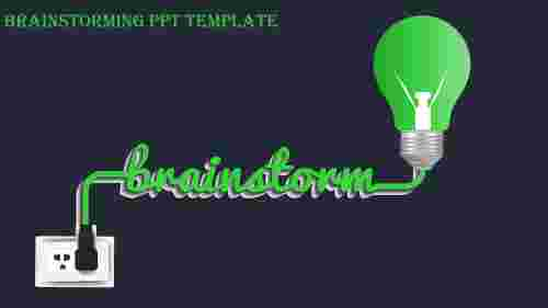 brainstorming ppt template-brainstorming ppt template-Green