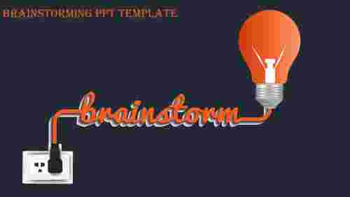 brainstorming ppt template-brainstorming ppt template-Orange