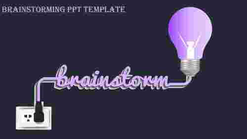 brainstorming ppt template-brainstorming ppt template-Purple