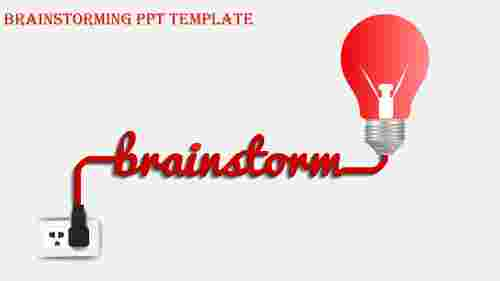 brainstorming ppt template-brainstorming ppt template-Red