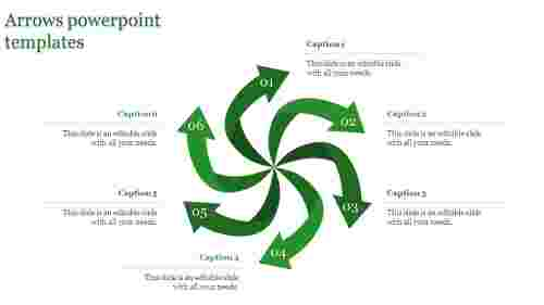 arrows powerpoint templates-arrows powerpoint templates-6-Green