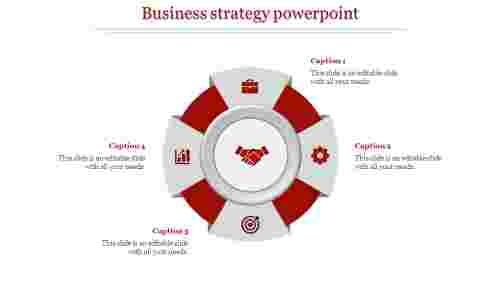 A four noded business strategy powerpoint