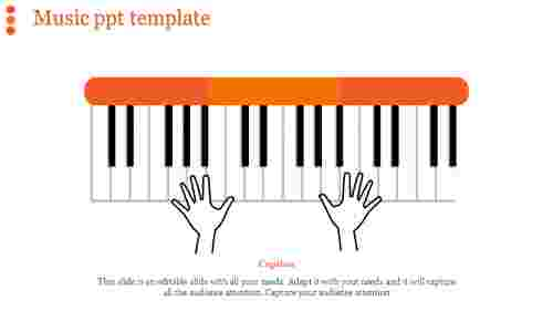 music ppt template-music ppt template-Orange