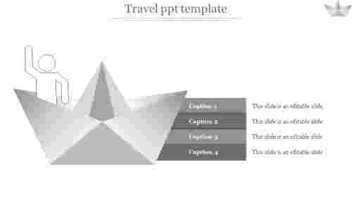 A four noded travel PPT template