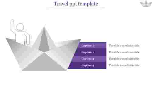 Ship travel PPT template PowerPoint presentation