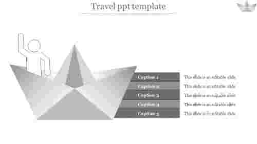 A five noded travel PPT template